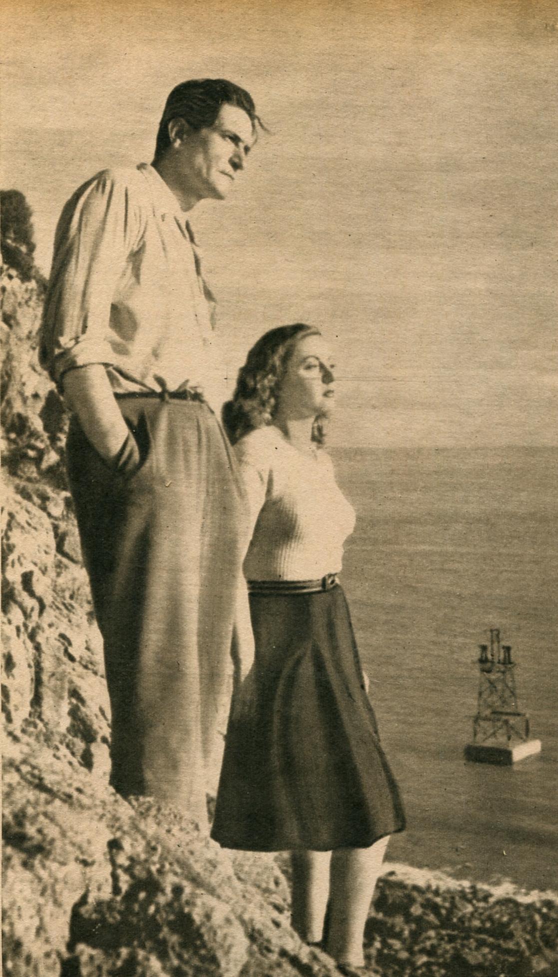 Clément Duhour and Viviane Romance in La maison sous la mer (1947)