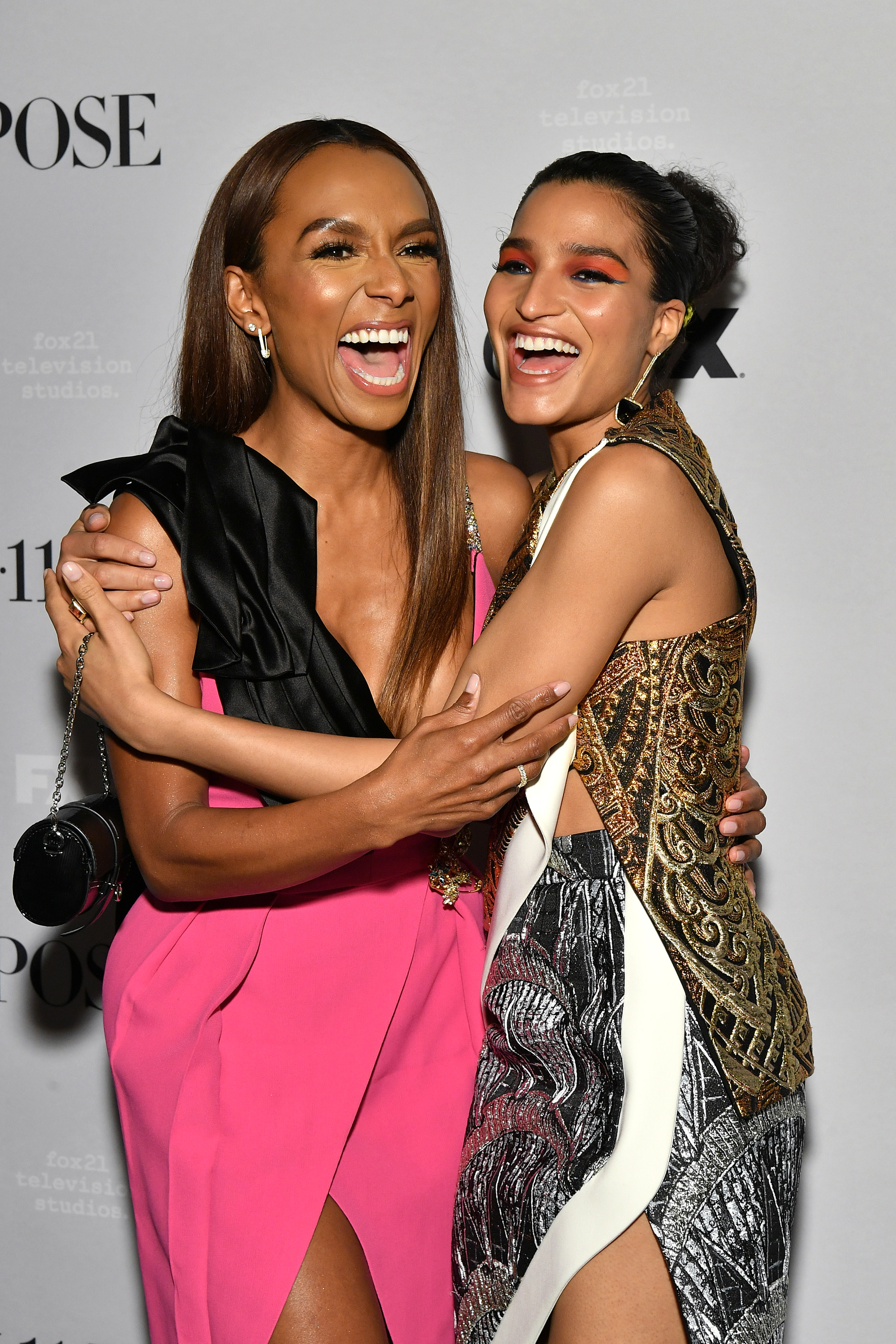 Janet Mock and Indya Moore at an event for Pose (2018)