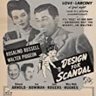 Edward Arnold, Lee Bowman, Walter Pidgeon, and Rosalind Russell in Design for Scandal (1941)