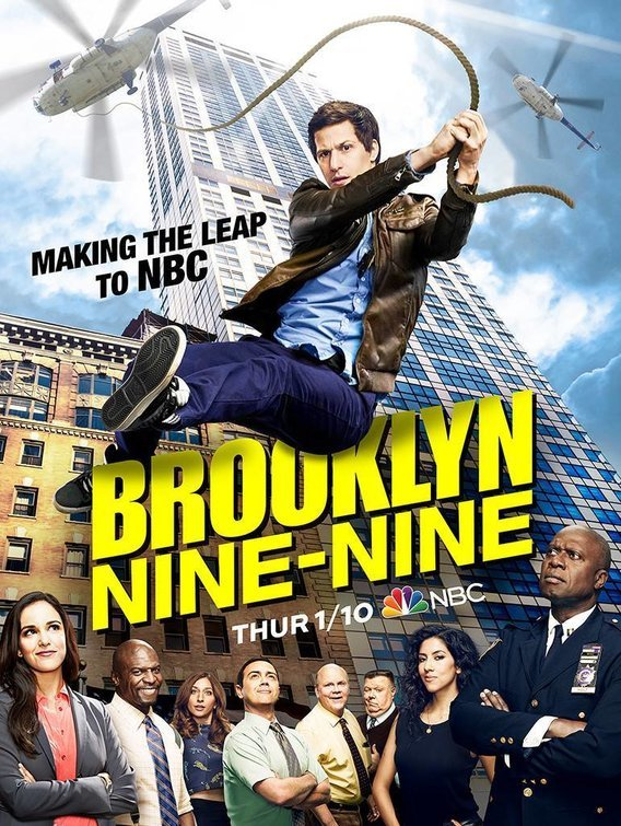 Dirk Blocker, Andre Braugher, Terry Crews, Melissa Fumero, Joe Lo Truglio, Joel McKinnon Miller, Andy Samberg, Chelsea Peretti, and Stephanie Beatriz in Brooklyn Nine-Nine (2013)