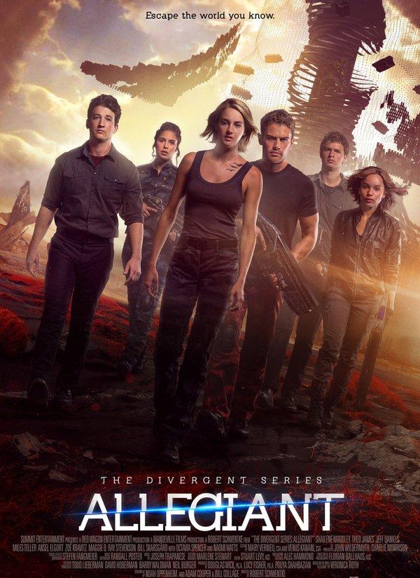 Shailene Woodley, Miles Teller, Zoë Kravitz, Nadia Hilker, Theo James, and Ansel Elgort in Allegiant (2016)