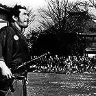 Toshirô Mifune and Isuzu Yamada in Yôjinbô (1961)