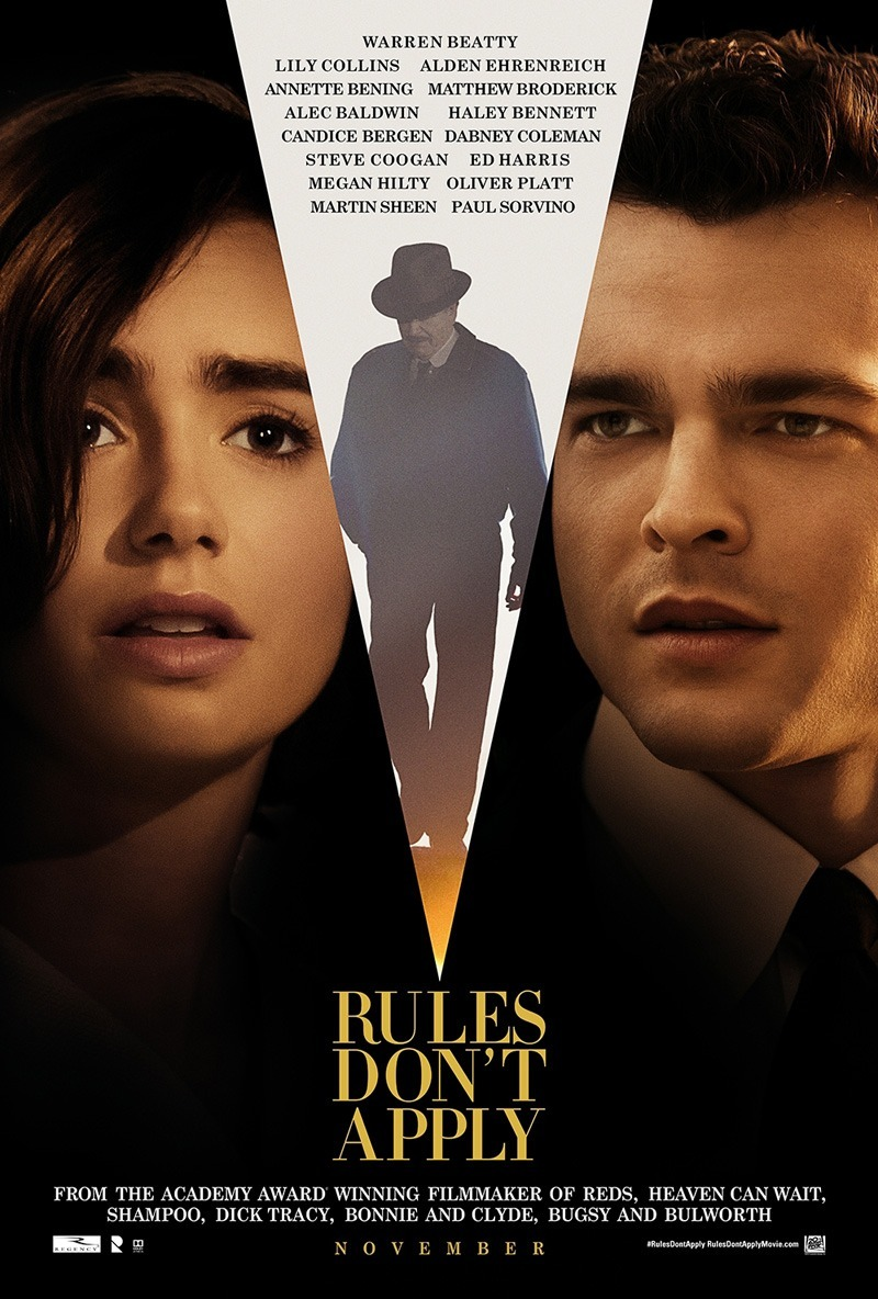 Warren Beatty, Alden Ehrenreich, and Lily Collins in Rules Don't Apply (2016)