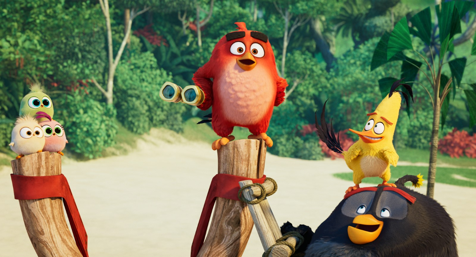 Jason Sudeikis, Danny McBride, Josh Gad, and Brooklynn Prince in The Angry Birds Movie 2 (2019)