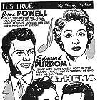 Debbie Reynolds, Jane Powell, Vic Damone, and Edmund Purdom in Athena (1954)