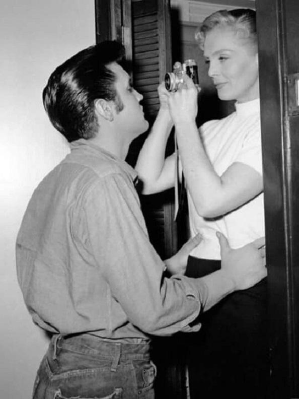 Elvis Presley and Lizabeth Scott in Loving You (1957)