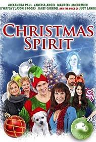 Alexandra Paul, Jason Brooks, Janet Carroll, Maureen McCormick, Mariah Buzolin, and Aaron Jaeger in Christmas Spirit (2011)