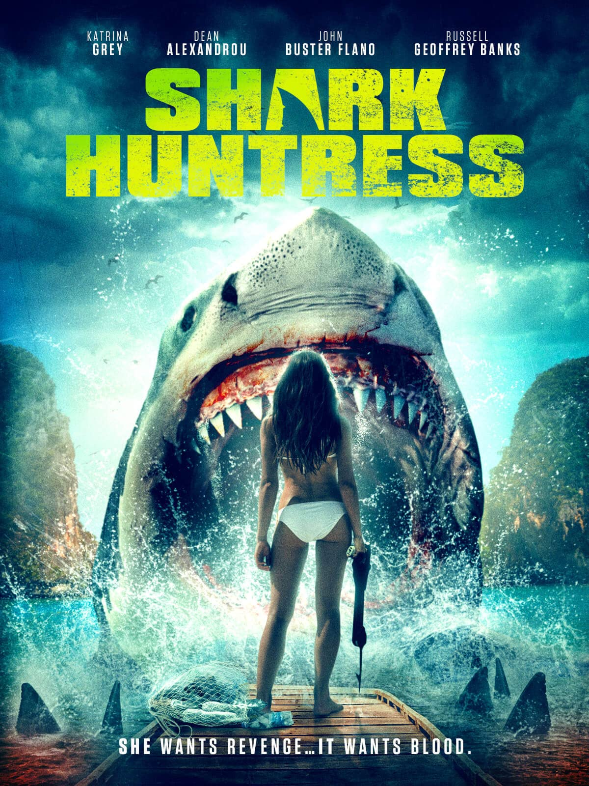 Shark Huntress (2021) English Movie HDRip 300MB Download