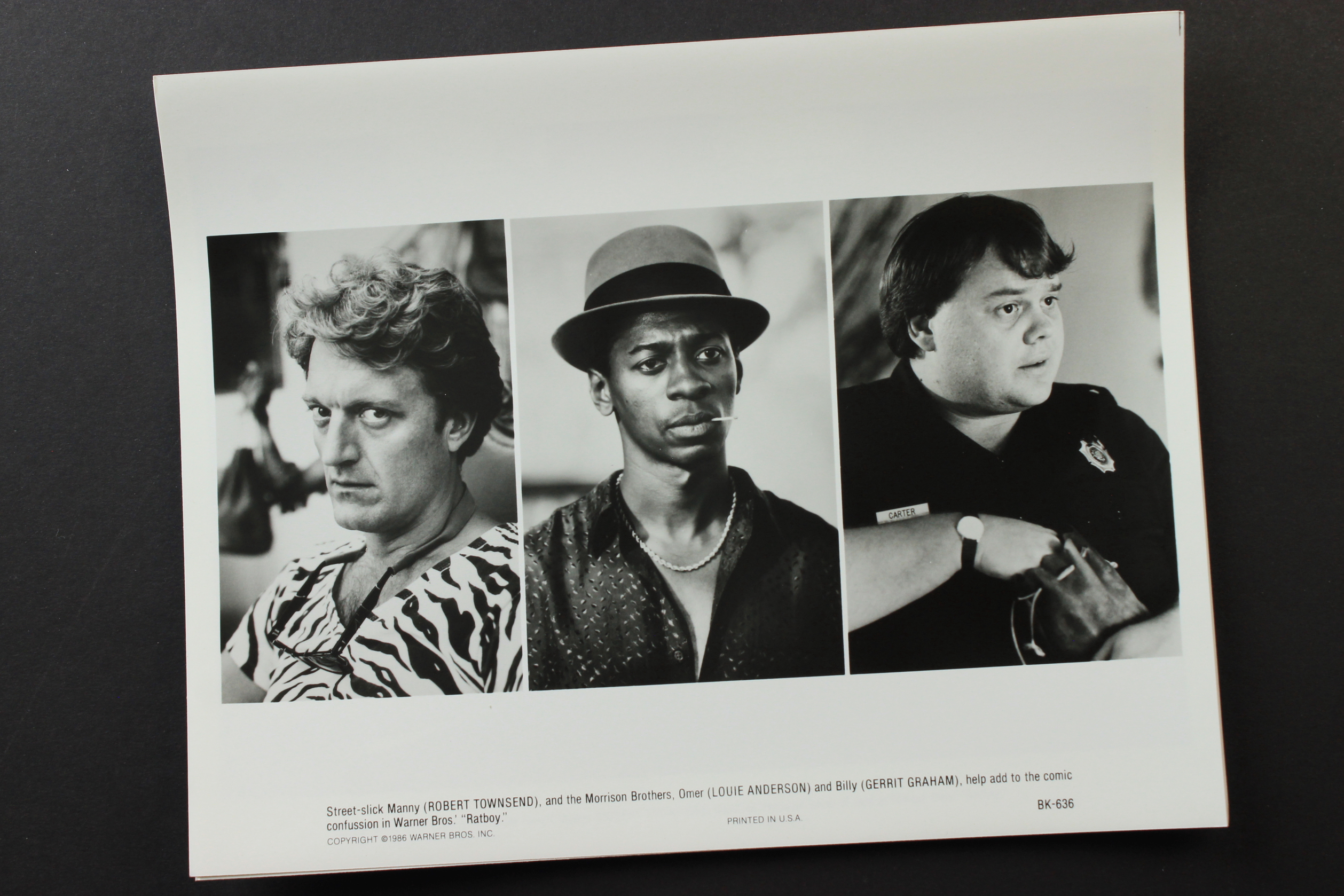 Louie Anderson, Gerrit Graham, and Robert Townsend in Ratboy (1986)