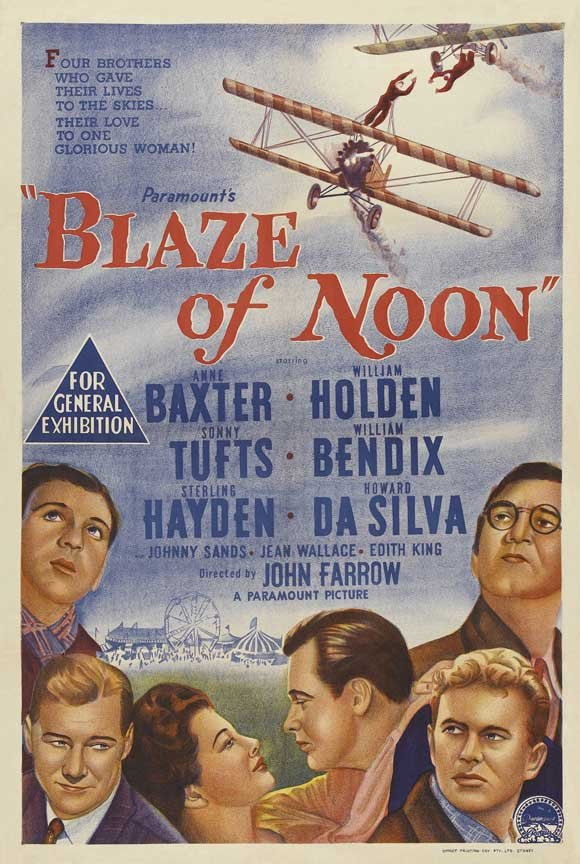 William Holden, Anne Baxter, William Bendix, Sterling Hayden, Howard Da Silva, and Sonny Tufts in Blaze of Noon (1947)