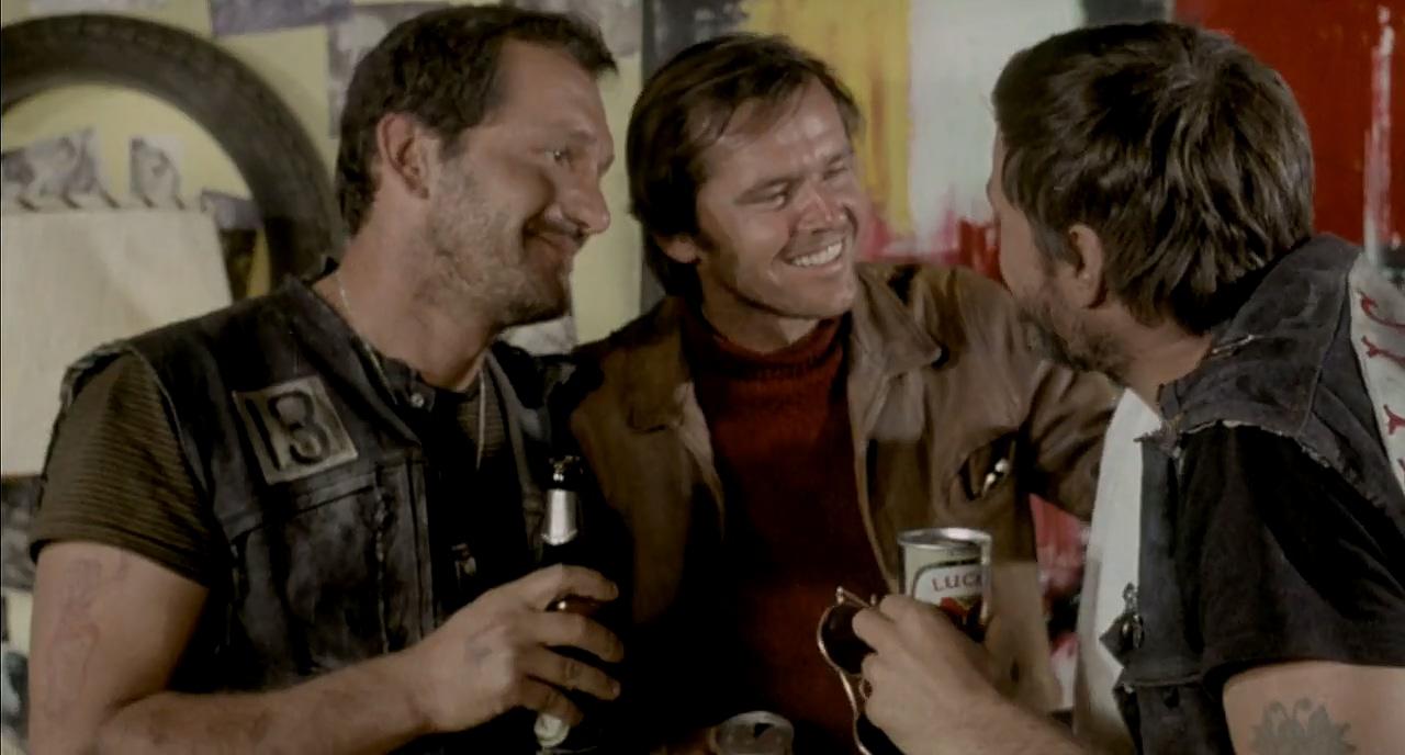 Jack Nicholson, John Garwood, and Adam Roarke in Hells Angels on Wheels (1967)