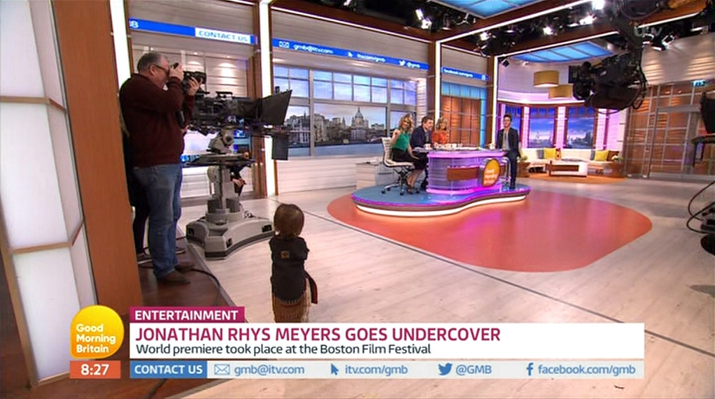 Jonathan Rhys Meyers, Kate Garraway, Ben Shephard, Lucy Verasamy, and Charlotte Hawkins in Good Morning Britain (2014)