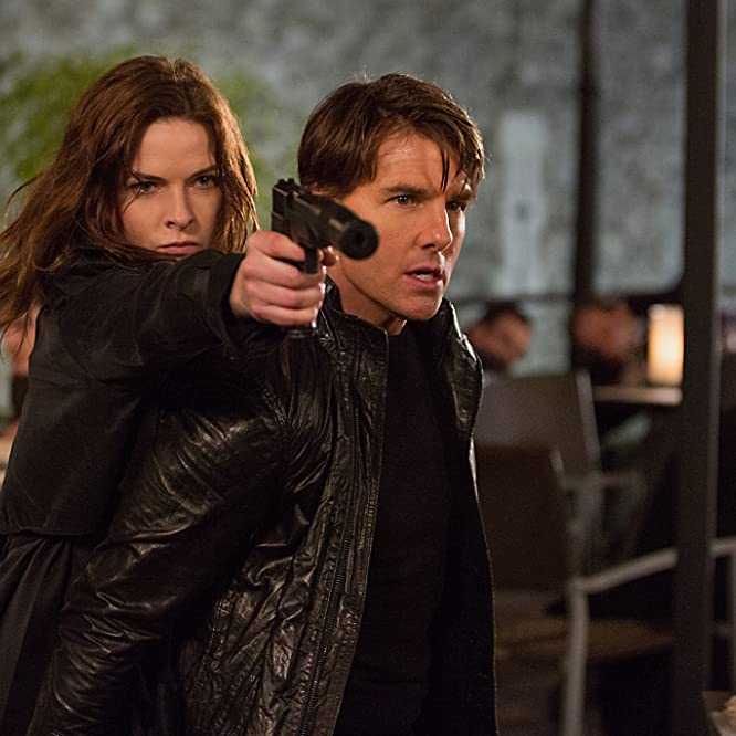Tom Cruise and Rebecca Ferguson in Mission: Impossible - Rogue Nation (2015)