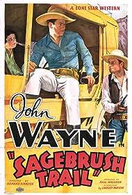 John Wayne, Lane Chandler, and Nancy Shubert in Sagebrush Trail (1933)