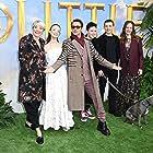 Robert Downey Jr., Emma Thompson, Susan Downey, Tom Holland, Harry Collett, and Carmel Laniado at an event for Dolittle (2020)