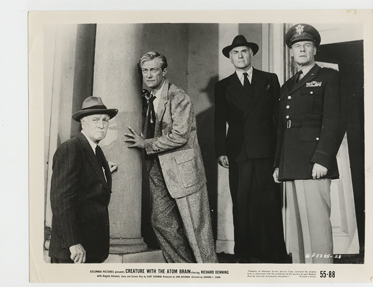 Lane Chandler, Richard Denning, and Pierre Watkin in Creature with the Atom Brain (1955)