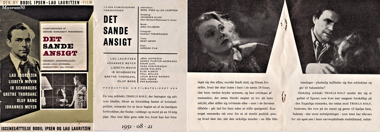 Lau Lauritzen, Lisbeth Movin, Ib Schønberg, and Grethe Thordahl in Det sande ansigt (1951)