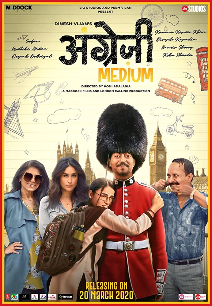 Angrezi Medium (2020) Hindi Movie 720p HDRip ESubs 1GB x264 AAC