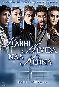 Amitabh Bachchan, Preity Zinta, Abhishek Bachchan, Shah Rukh Khan, and Rani Mukerji in Kabhi Alvida Naa Kehna (2006)