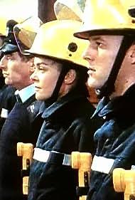 Samantha Beckinsale, Ross Boatman, James Hazeldine, Glen Murphy, Ben Onwukwe, and Steve North in London's Burning (1988)