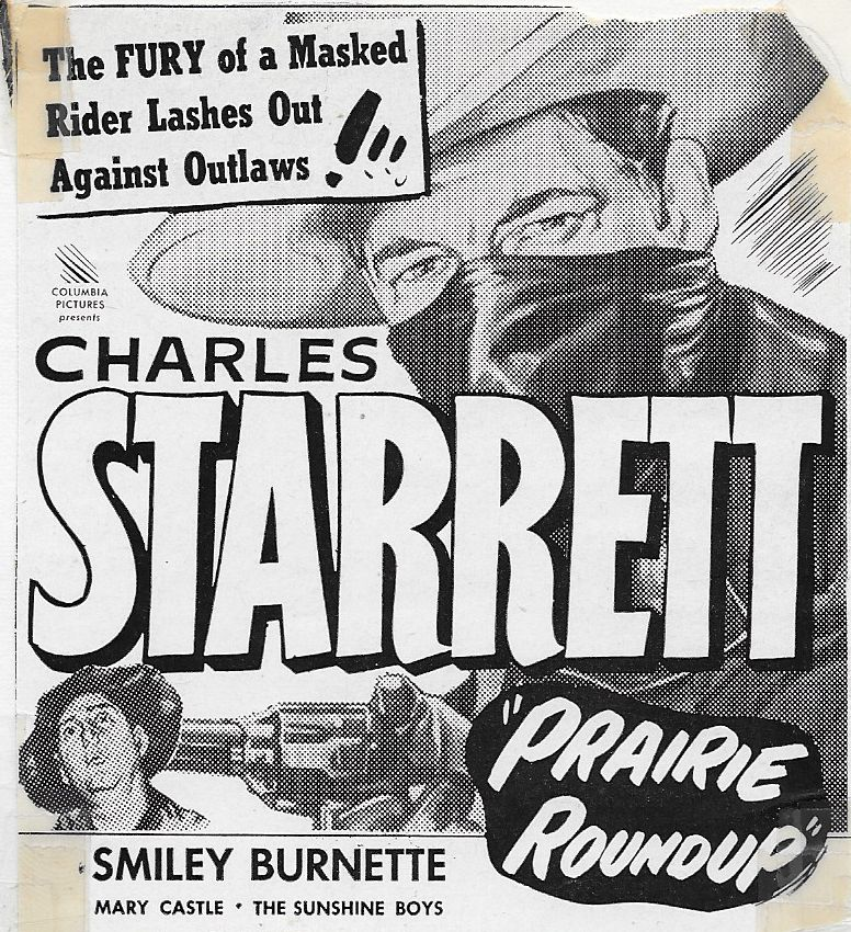 Smiley Burnette and Charles Starrett in Prairie Roundup (1951)