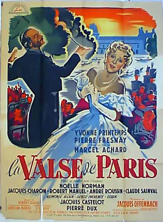Noelle Normand La valse de Paris vintage movie poster
