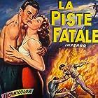 Rhonda Fleming and William Lundigan in Inferno (1953)