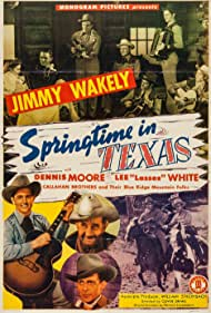Johnny Bond, Marie Harmon, Frankie Marvin, Dennis Moore, Jimmy Wakely, and Lee 'Lasses' White in Springtime in Texas (1945)