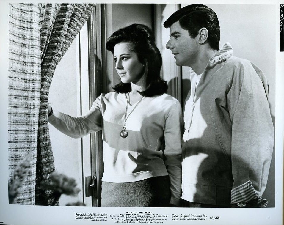 Sherry Jackson and Frankie Randall in Wild on the Beach (1965)