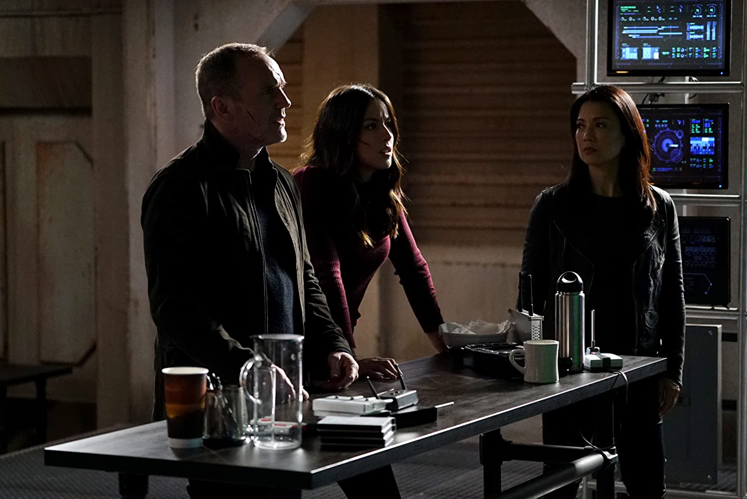 Ming-Na Wen, Clark Gregg, and Chloe Bennet in Agents of S.H.I.E.L.D. (2013)