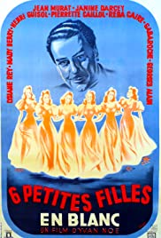 Six petites filles en blanc Poster