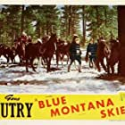 Gene Autry, John Beach, Smiley Burnette, Ted Mapes, Bud Wolfe, Harry Woods, and Champion in Blue Montana Skies (1939)