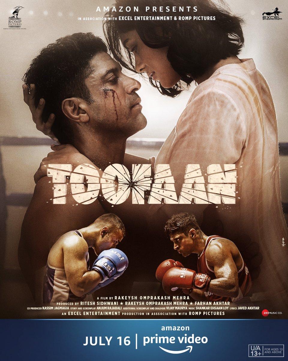 Toofaan 2021 Hindi Movie 350MB AMZN HDRip 480p ESubs Download