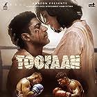 Farhan Akhtar and Mrunal Thakur in Toofaan (2021)