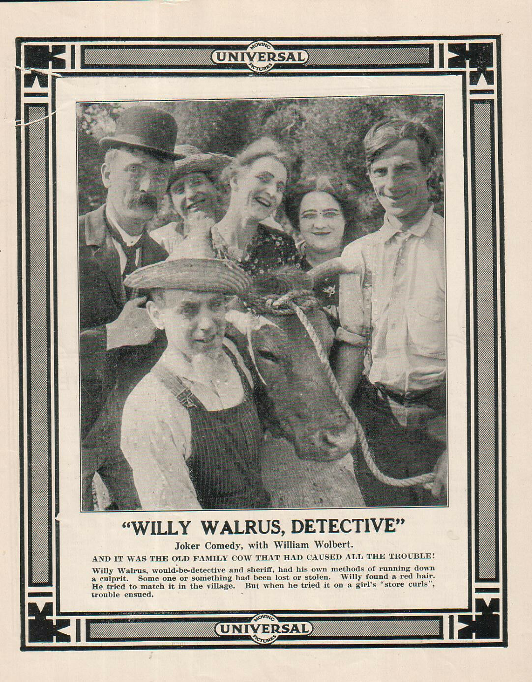 Willy Walrus, Detective (1914)