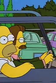 Homer Loves Flanders Poster