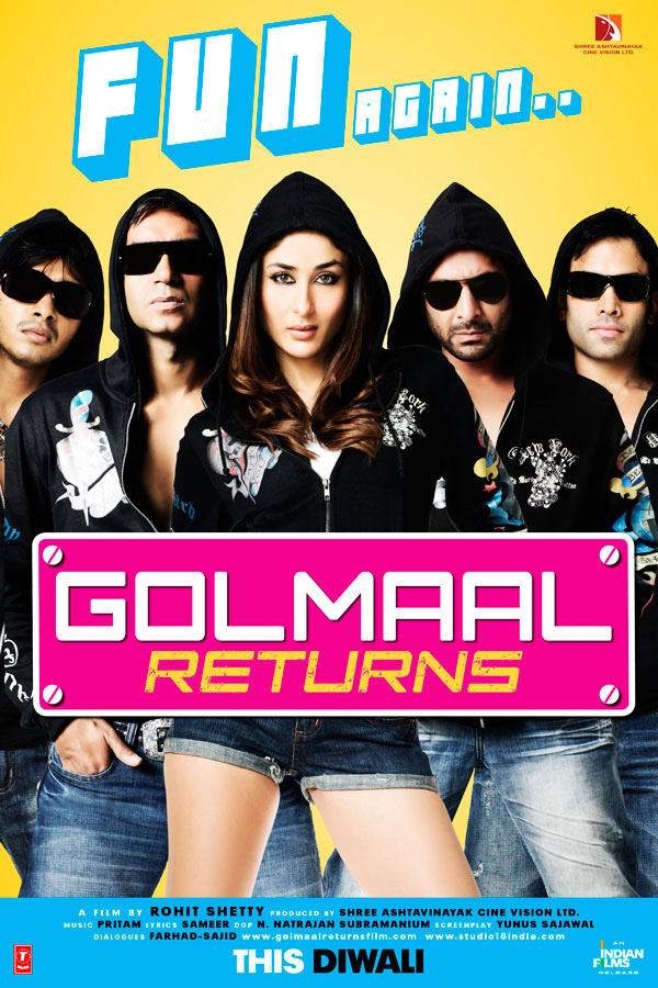 Golmaal Returns (2008) 1080p BluRay REMUX AVC DTS-HD 5.1 – Invictus | G-Drive | 20GB |