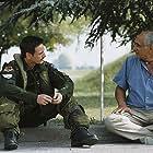 Gérard Pirès and Benoît Magimel in Les chevaliers du ciel (2005)