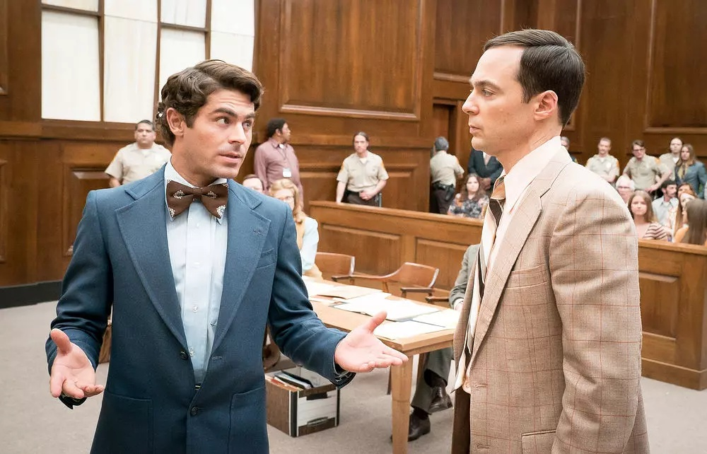 Zac Efron and Jim Parsons in Extremely Wicked, Shockingly Evil and Vile (2019)
