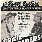 Kermit Maynard, David Sharpe, and Max Terhune in Trail Riders (1942)