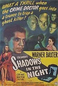 Nina Foch, Jeanne Bates, Warner Baxter, Edward Norris, Ben Welden, and George Zucco in Shadows in the Night (1944)