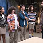 Kyle Howard, Max Torina, Elie Samouhi, and Izabela Rose in Upside-Down Magic (2020)