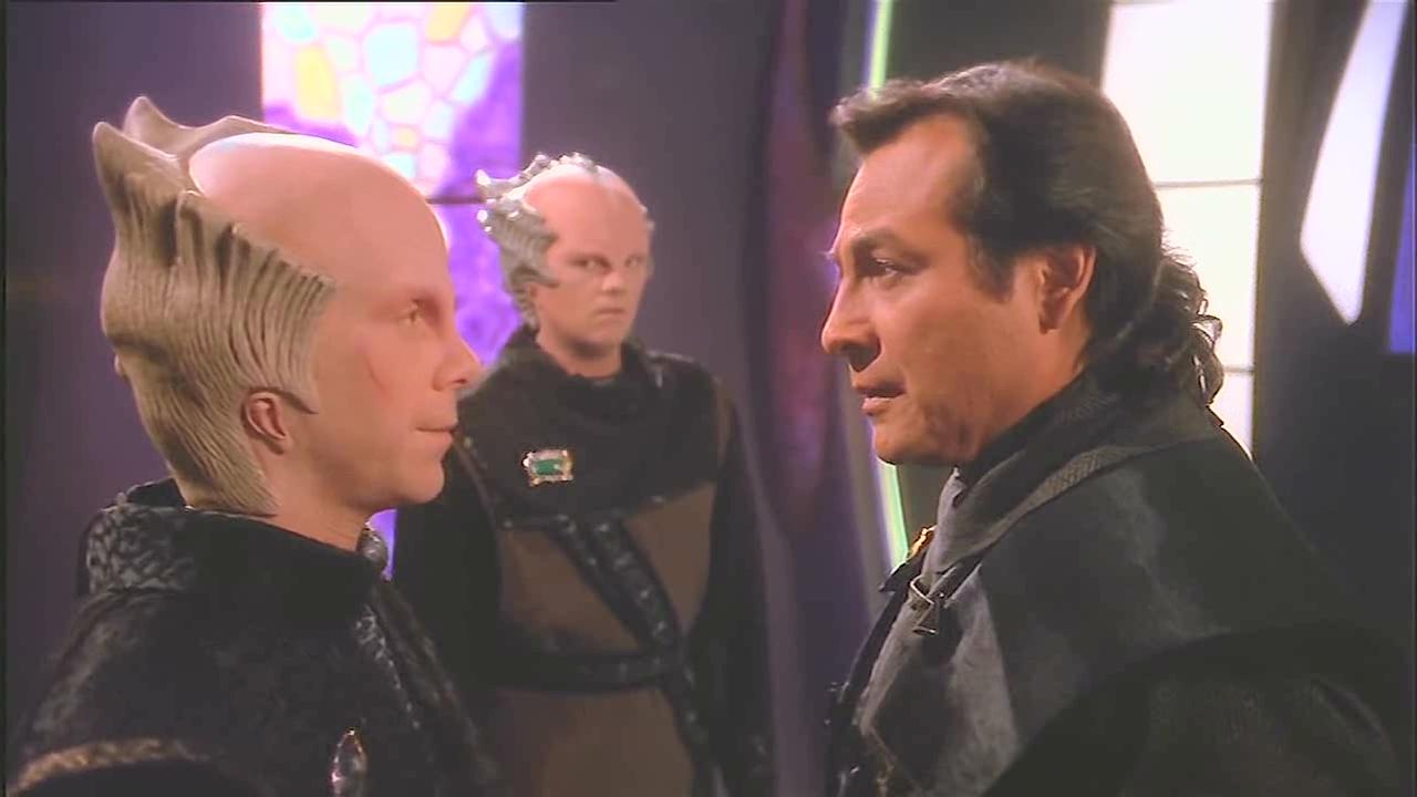 Martin East, Bill Mumy, and Richard Yniguez in Babylon 5 (1993)