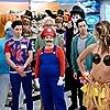 Danny Gura, America Ferrera, Ben Feldman, and Nico Santos in Superstore (2015)