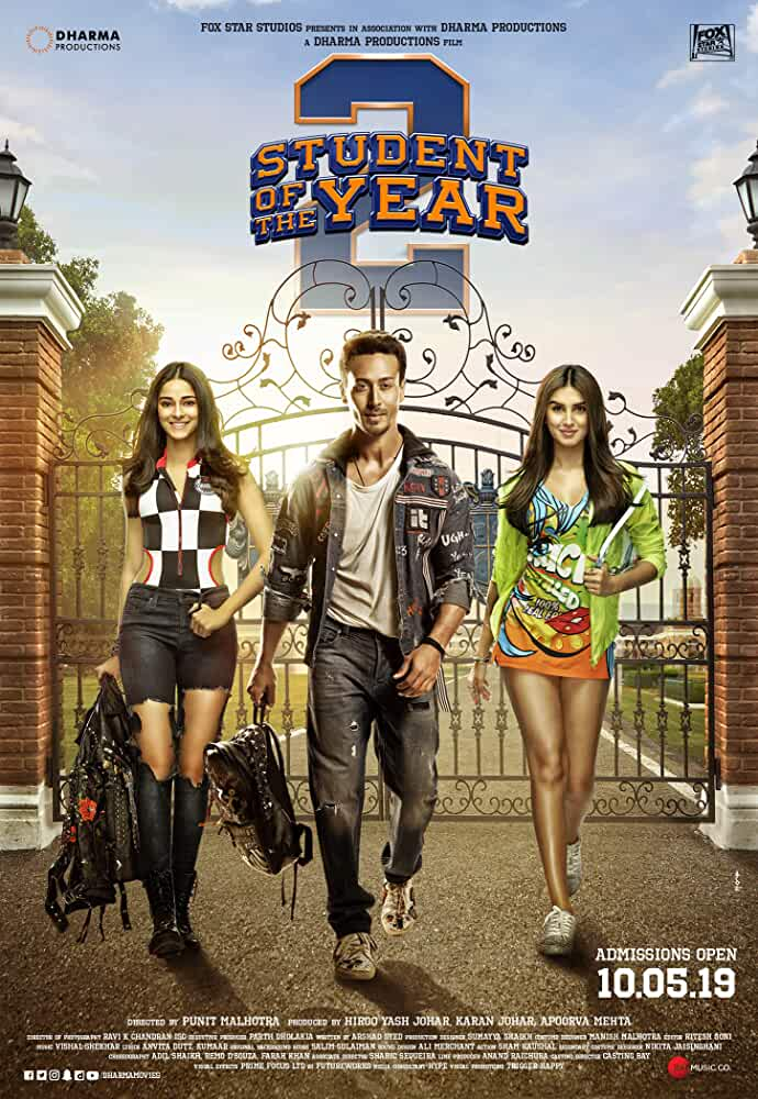 Student of the Year 2 | 2019 | Hindi | 1080p | 720p | WebRip