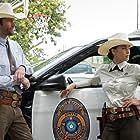 Jared Padalecki and Lindsey Morgan in Walker (2021)