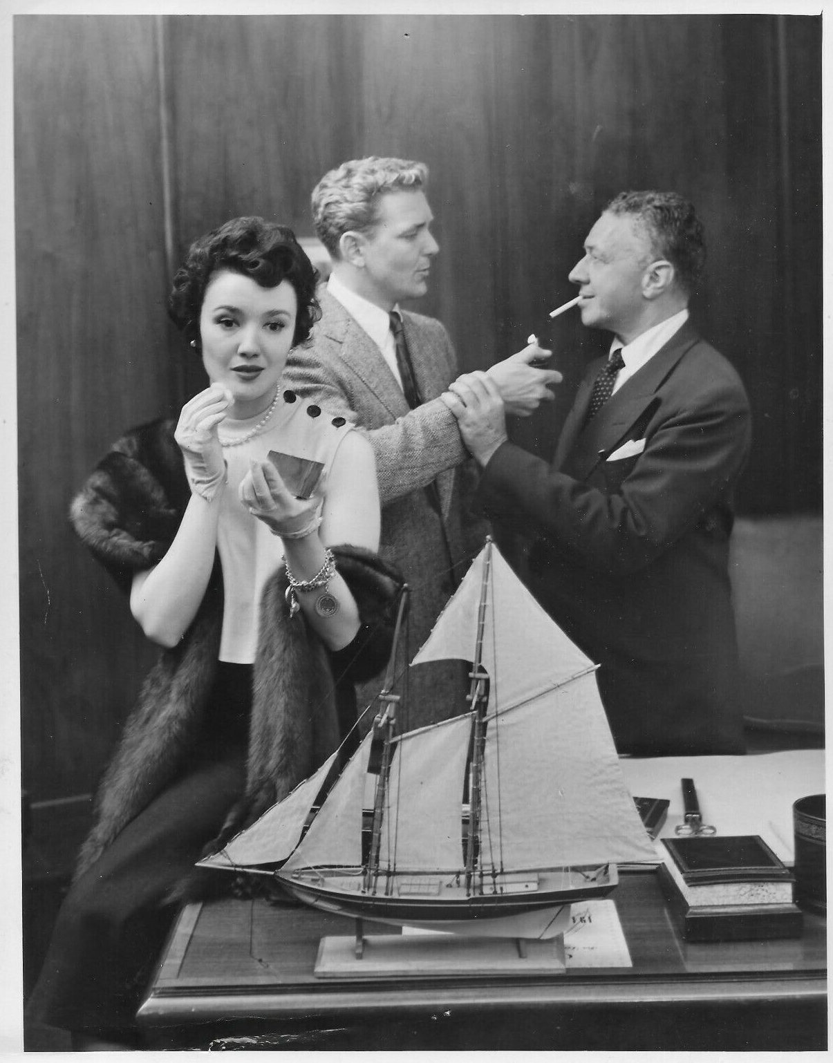 Eric Dressler, Charles Nolte, and Beverly Whitney in The Web (1950)