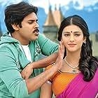 Pawan Kalyan and Shruti Haasan in Gabbar Singh (2012)