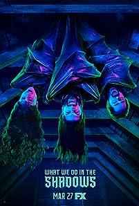 Kayvan Novak, Matt Berry, and Natasia Demetriou in What We Do in the Shadows (2019)