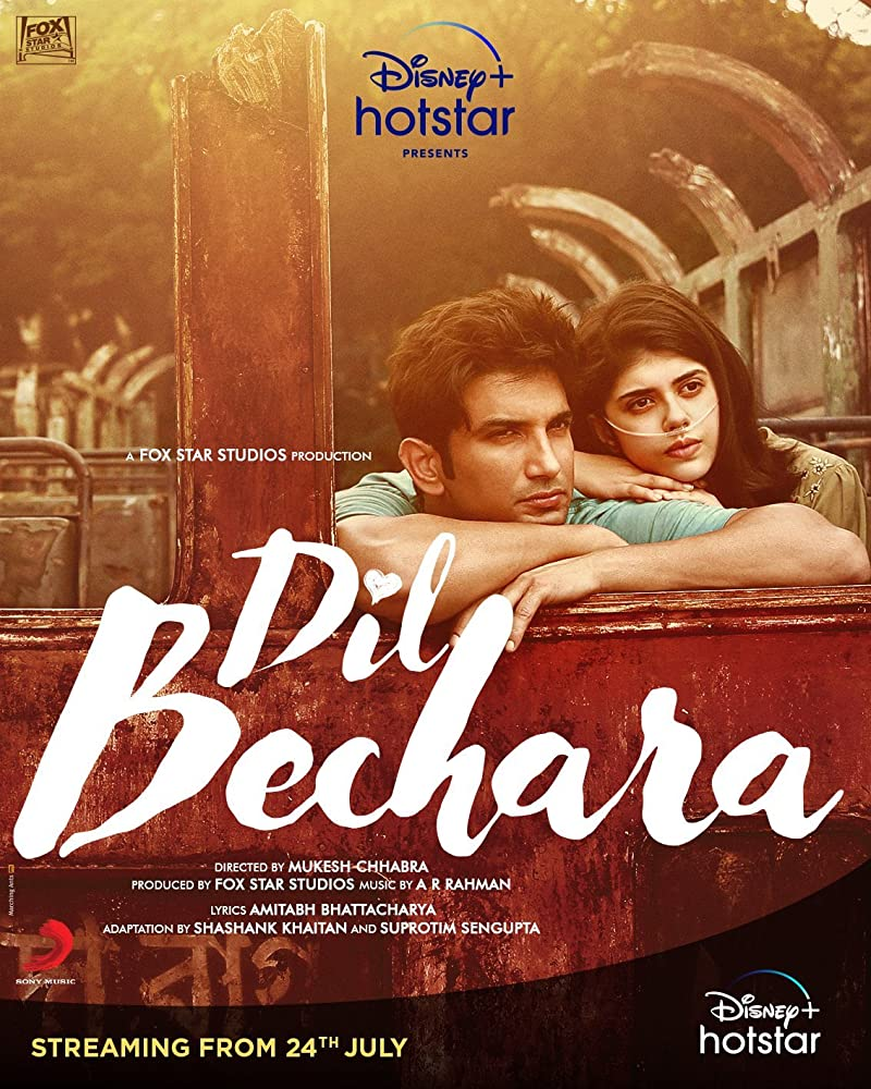 Dil Bechara 2020 Hindi 550MB HDRip 720p HEVC x265 ESubs Download